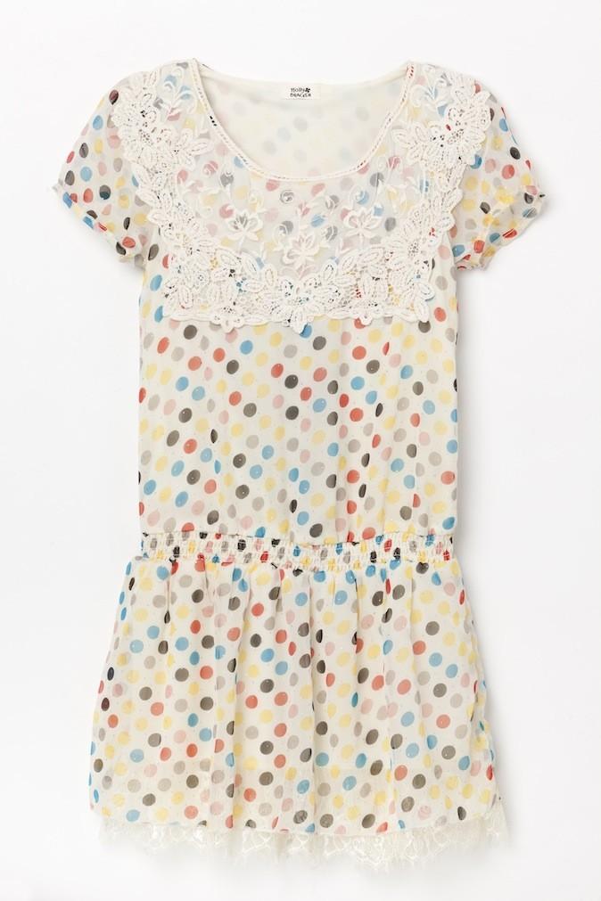 Robe en mousseline et crochet, Molly Bracken, 29,90 euros
