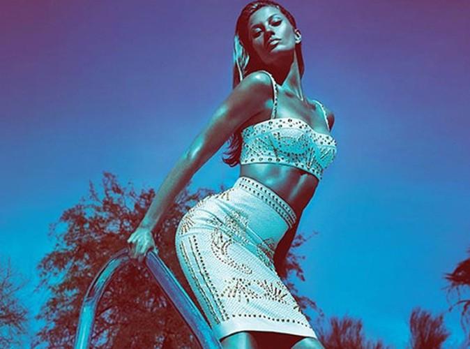 Mode : Gisele Bündchen femme élastique pour la campagne Versace !
