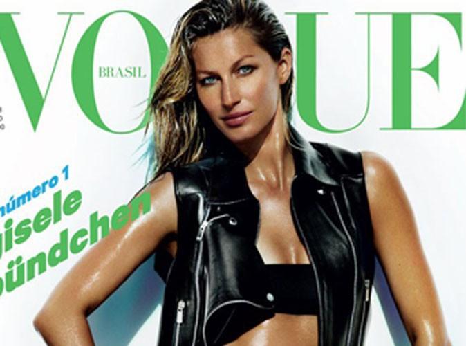 Mode : Gisele Bündchen : rockeuse sexy et dénudée pour la couverture de l'édition brésilienne de Vogue !