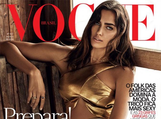 Mode : Irina Shayk : sensuelle et mystérieuse à la Une du Vogue Brésil !