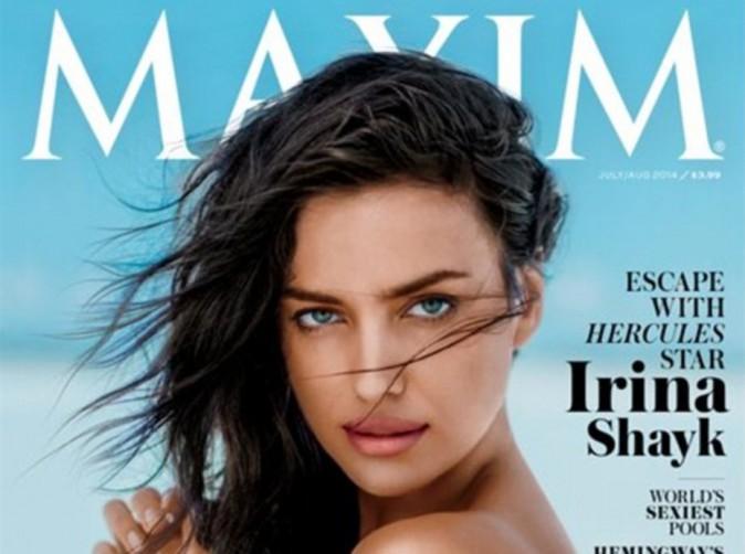 """Mode Irina Shayk : topless pour la Une de Maxim, elle ne veut pas être qu'une """"stripteaseuse""""  !"""
