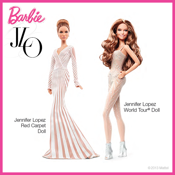Les deux poupées Barbie Jennifer Lopez