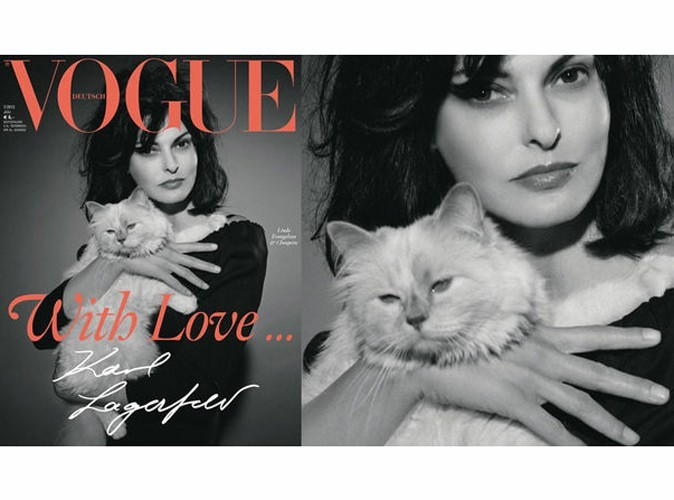 Mode : Karl Lagerfeld photographie à nouveau sa Choupette pour le Vogue allemand !