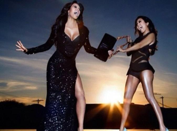 Mode : Kim et Kourtney Kardashian se chamaillent pour un sac !