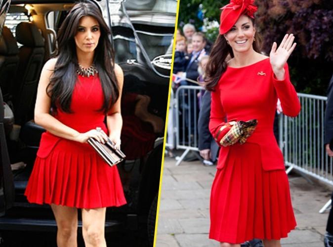 Mode : Kim Kardashian VS Kate Middleton : qui porte le mieux la robe Alexander McQueen ?