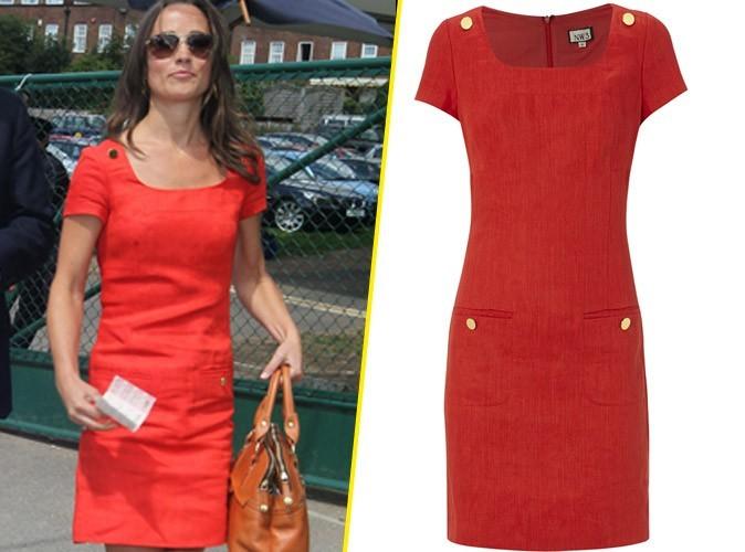 Mode : la robe rouge de Pippa Middleton à Wimbledon en rupture de stock !