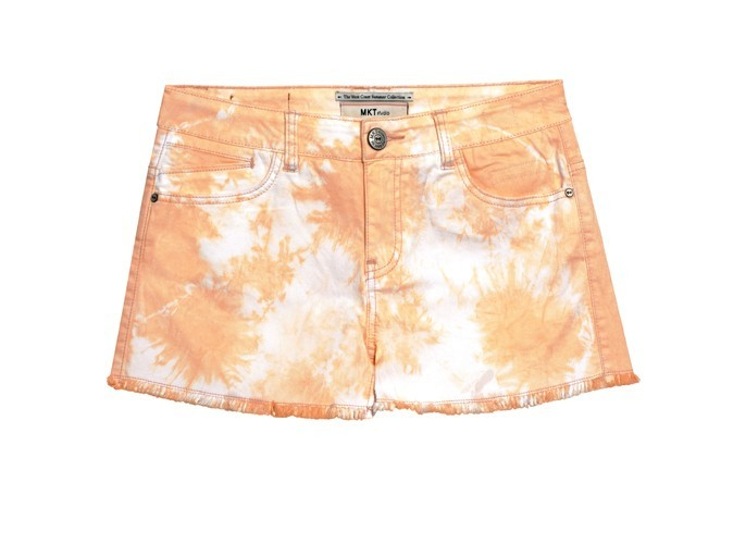 Short délavé orange, MKTstudio, 60 €