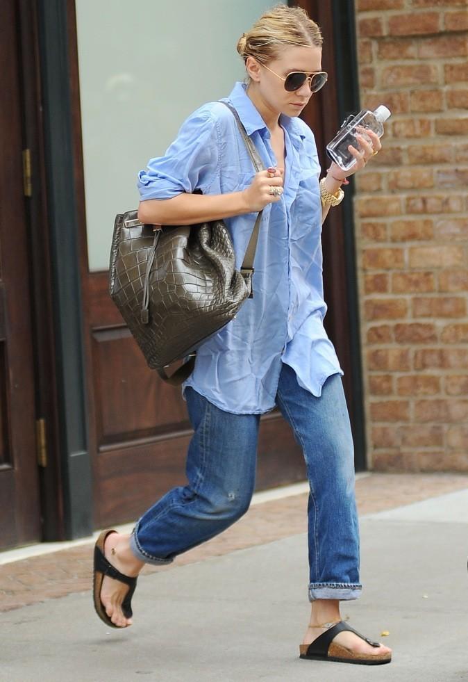 Ashley Olsen dans les rues de New York avec son fameux sac à 39 000€
