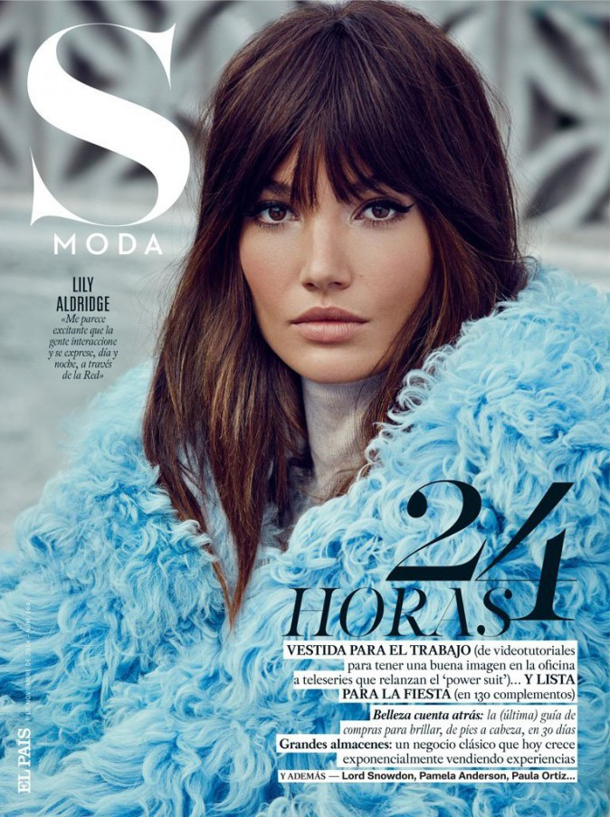 Mode : Lily Aldridge : elle se la joue Jane Birkin pour S Moda !