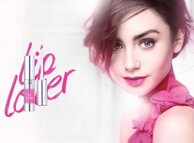 Mode : Lily Collins : girly à souhait pour le lancement de la gamme Lip Lover de Lancôme !