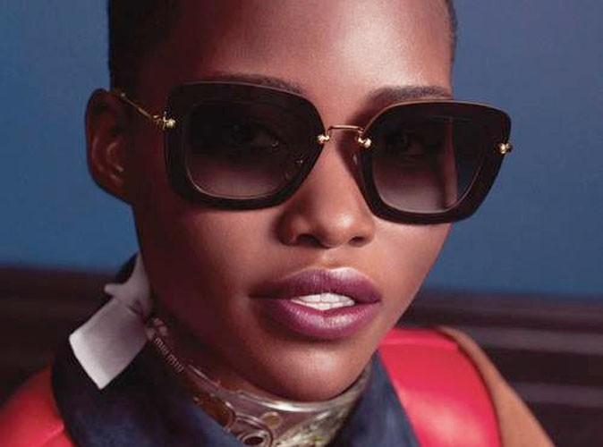 Mode : Lupita Nyong'o aveuglante de beauté pour la dernière collection Eyewear de Miu Miu