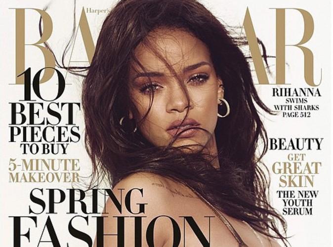 Mode : Rihanna : poitrine bombée et regard incendiaire en couverture de Harper's Bazaar !