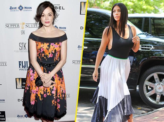 "Mode : Rose McGowan : elle clashe Kim Kardashian et son jogging en velours ""hideux"" !"