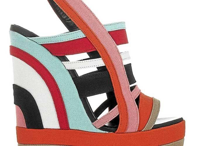 Mode : zoom sur les sandales compensées multicolores Pierre Hardy ! Ah si j'étais riche !
