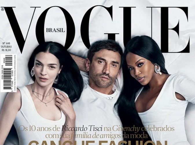 Naomi Campbell, Mariacarla Boscono et Riccardo Tisci pour Vogue Brésil !