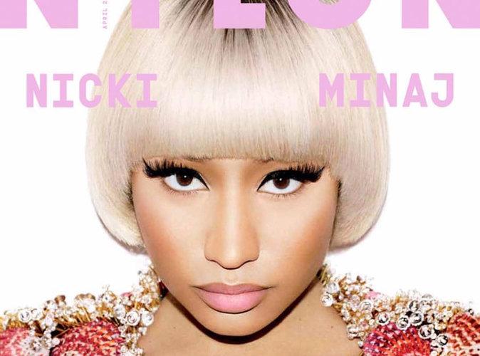 Nicki Minaj : blonde, teint pâle et décolleté ravageur pour Nylon Magazine