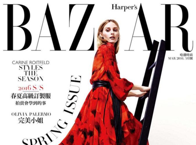 Olivia Palermo : magistrale en couverture du magazine Haper's Bazaar Taïwan