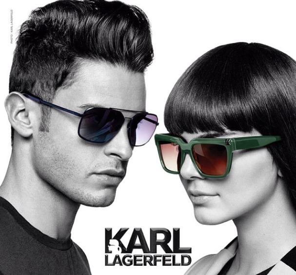 Baptiste et Kendall pour Karl Lagerfeld