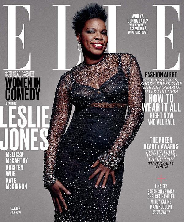 Leslie Jones en couverture de ELLE juillet 2016