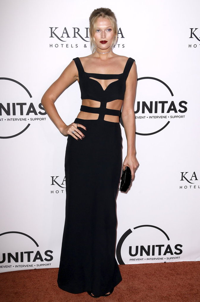 "Toni Garrn à la soirée ""The Unitas Annual Gala Against Human Trafficking"""