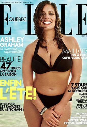 Ashley Graham : un top en formes à la une de Elle Québec !