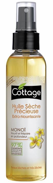 Reflets irisés Huile sèche au monoï, Cottage 6,20 €