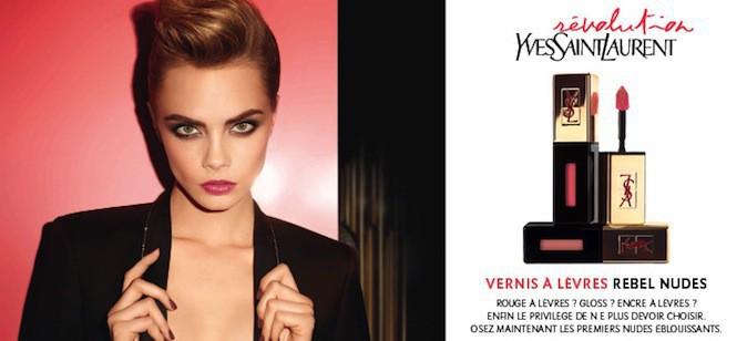 Les anciennes campagnes Yves Saint Laurent beauté avec Cara, déjà égérie !