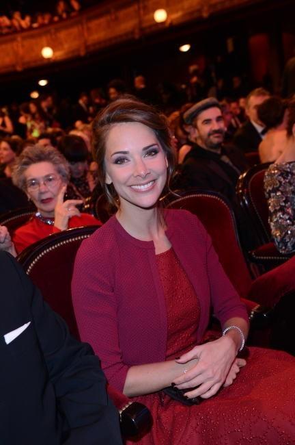 Le chignon romantique de Mélissa Theuriau le 22 janvier 2013