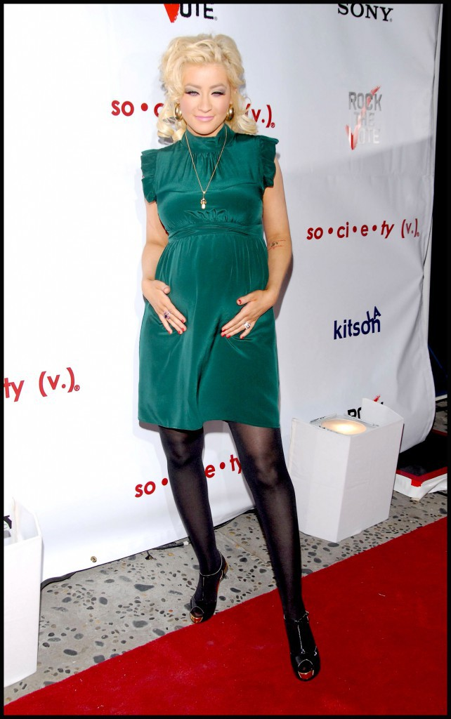 2008 : Christina Aguilera durant sa grossesse !