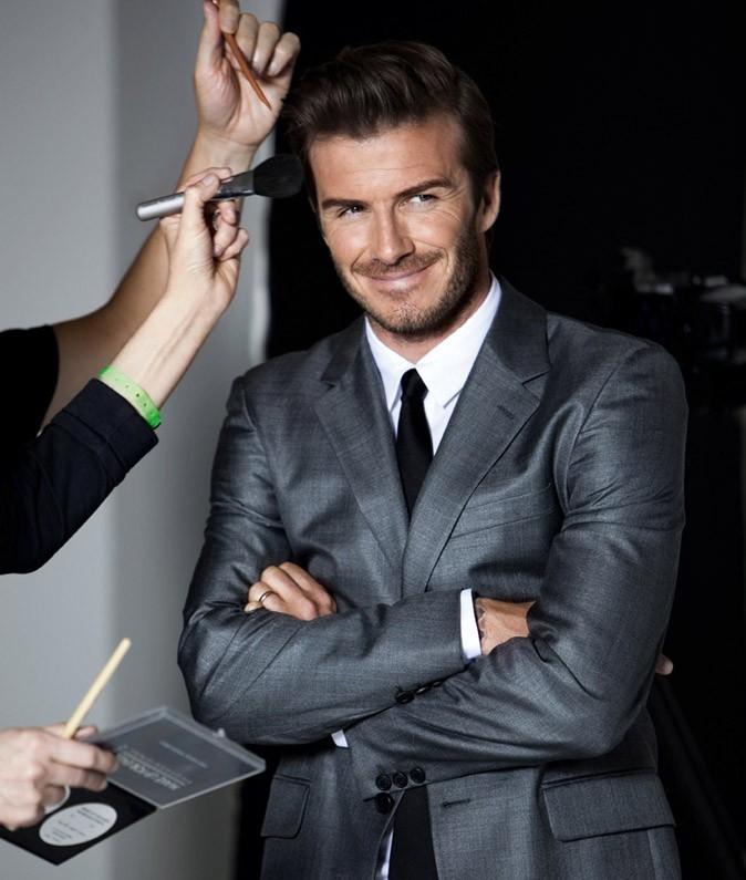 David Beckham en plein shooting pour la campagne de son parfum !