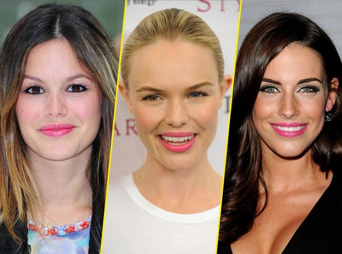 Beauté de star : elles portent toutes... la bouche rose !