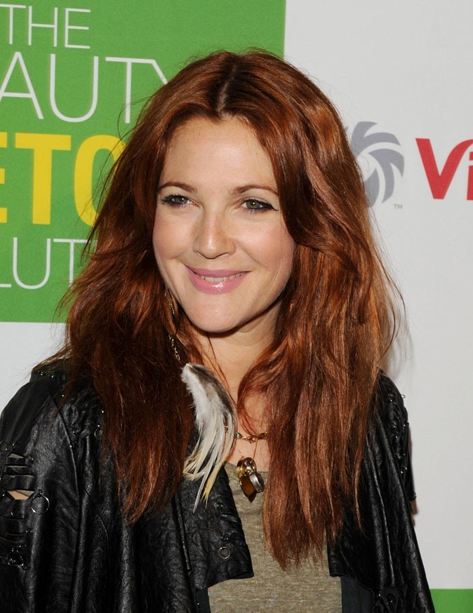 Abaca Drew Barrymore : une coloration cheveux auburn