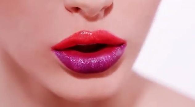 Des lèvres pulpeuses bicolores