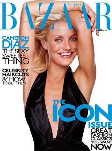 Cameron Diaz en couverture de Harper's Bazaar
