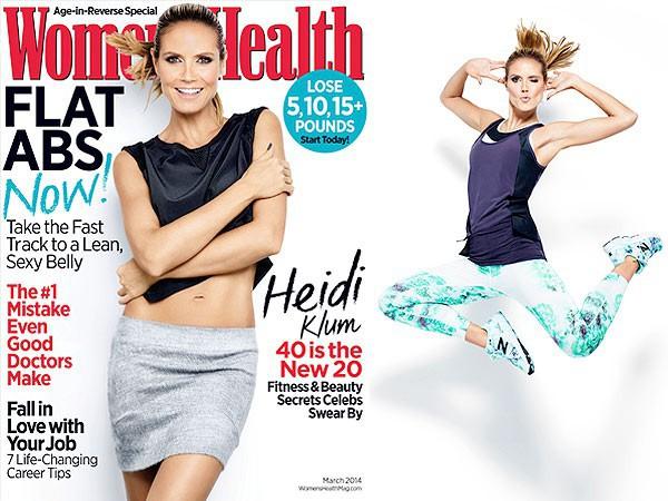 Heidi Klum en couverture de Women's Health