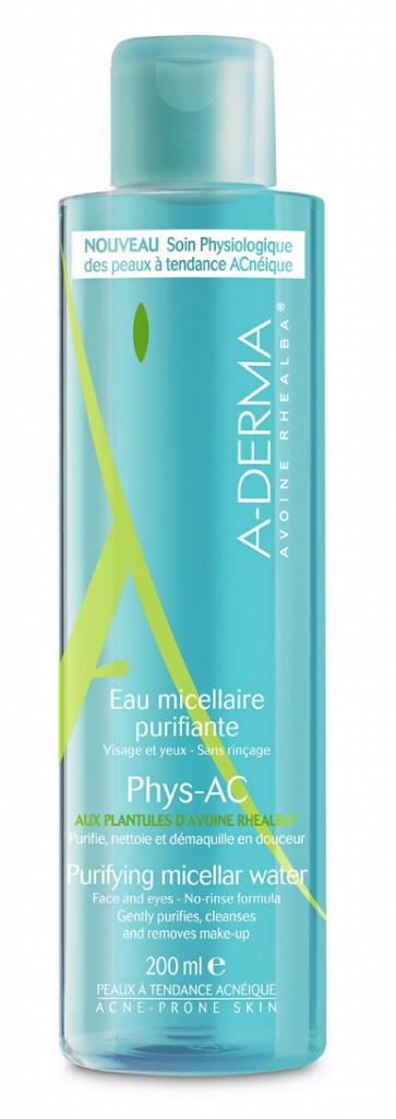 Eau micellaire purifiante Phys-AC, A-derma 9,10€
