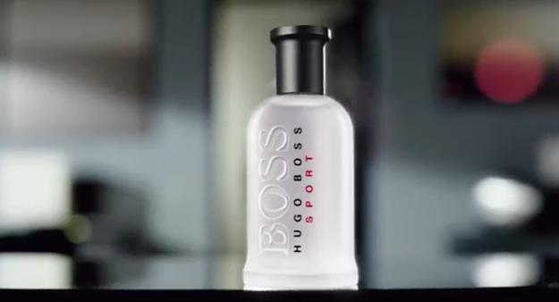 Jenson Button pour le parfum Boss Bottled Sport