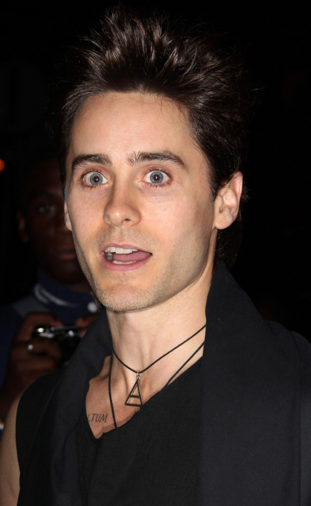 Jared Leto au défilé de Kanye West, le 1er octobre 2011, à Paris.