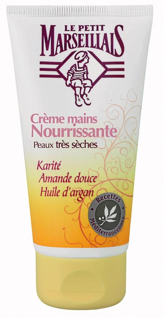 9. Je me prends en main : Crème mains nourrissante au karité, Le Petit Marseillais, 3€