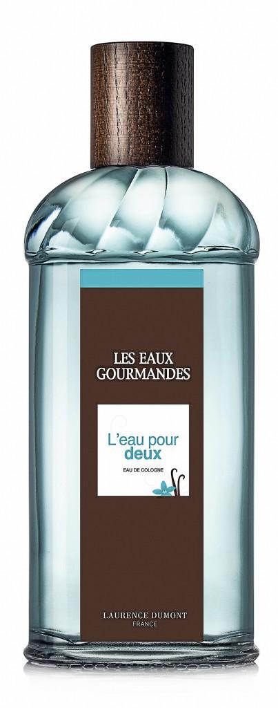 Pour elle et lui : L'eau pour deux, Les Eaux Gourmandes, Laurence Dumont 24,90 € les 50 ml