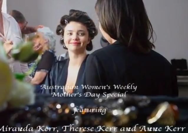 Miranda Kerr sur le shooting de The Australian Women's Weekly