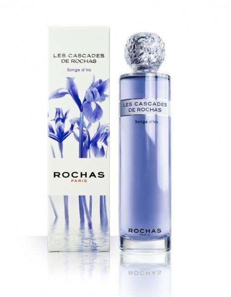 """Le bouchon de la bouteille du parfum """"Songe d'Iris"""" est le même que celui des eaux de Rochas."""