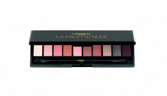 Palette de fards à paupières Nude, L'Oréal Paris chez Monoprix, 24,90€