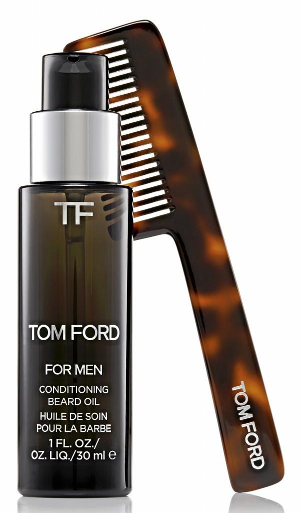 Huile de soin et peigne pour la barbe, Tom Ford 48€ et 35€