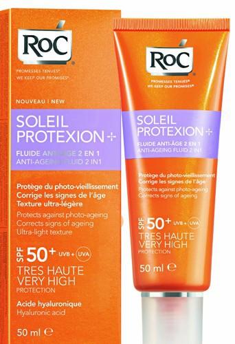 Fluide solaire anti-âge 2 en 1, Soleil Protexion +, SPF 50+ Roc 15,45 €