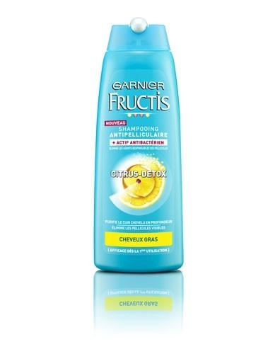 Shampooing antipelliculaire, Citrus Detox, Fructis, Garnier, 3,45€
