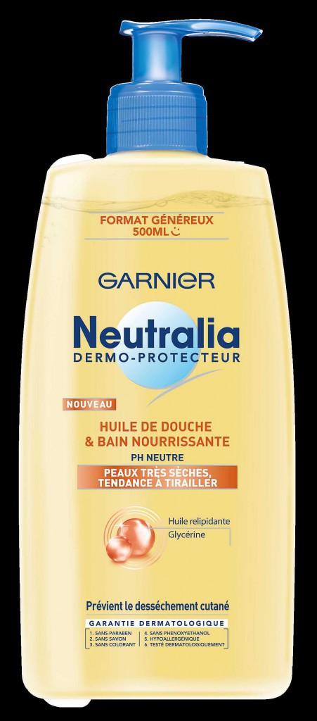 Huile de douche nourrissante, Neutralia, Garnier 5€