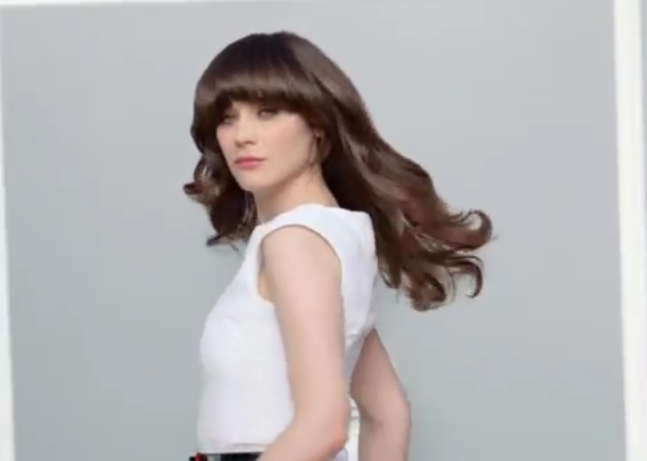 Zooey Deschanel pour la campagne Pantene beautiful lengths !