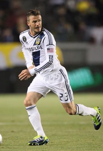 Encore une autre paire de crampons pour David Beckham.