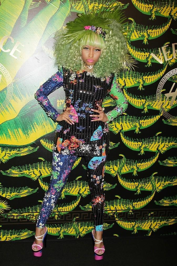 Nicki Minaj se fond dans le décor